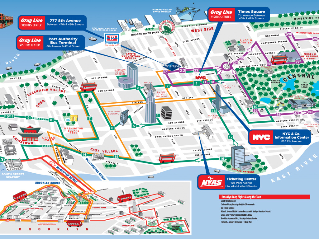 Map Of New York With Attractions New York City Map For Tourists New - Map Of New York Attractions Printable