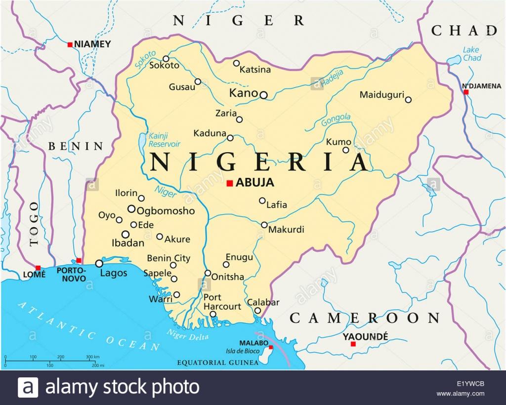 Map Of Nigeria Stock Photos & Map Of Nigeria Stock Images - Alamy - Printable Map Of Nigeria