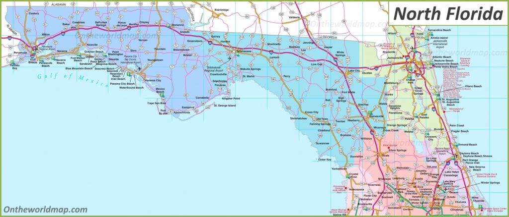Map Of North Florida - Florida North Map