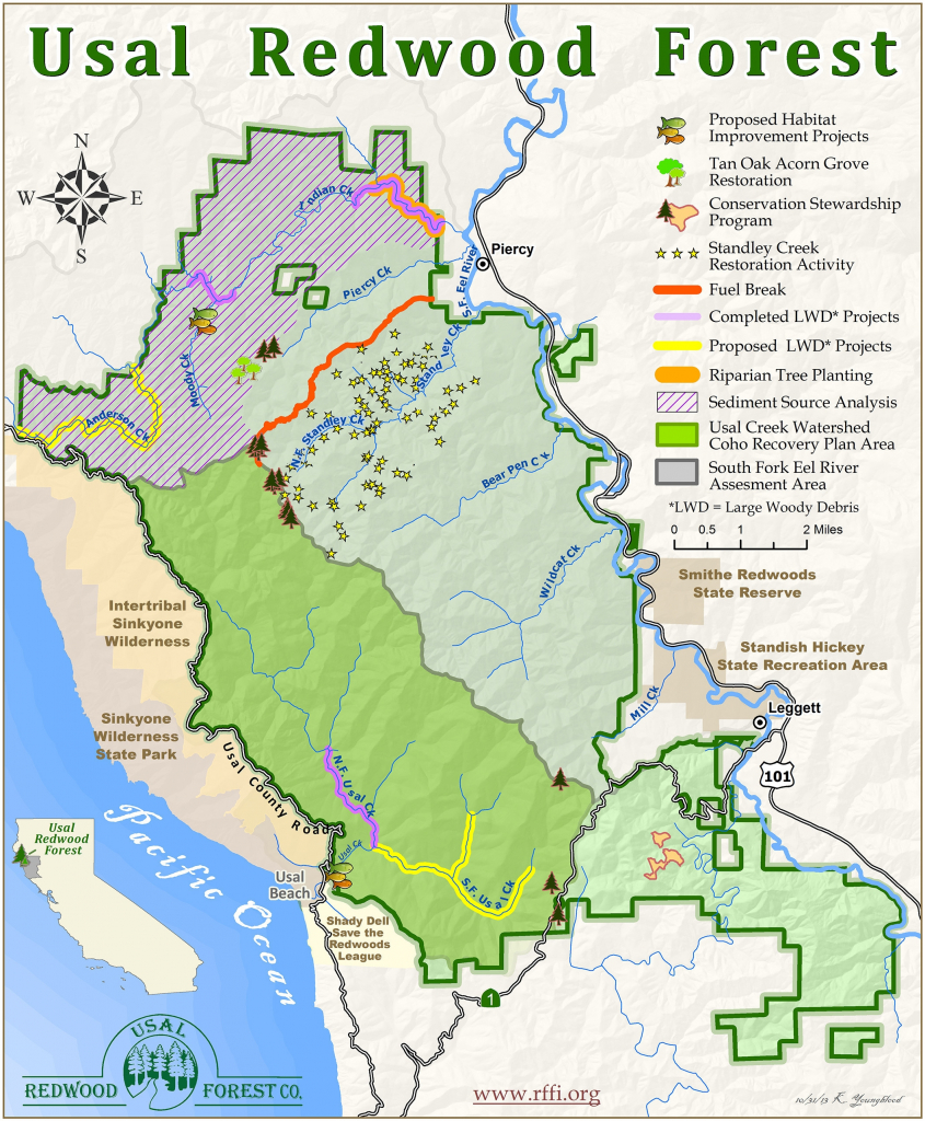 Map Of Northern California Redwood Forest – Map Of Usa District - Redwood Forest California Map