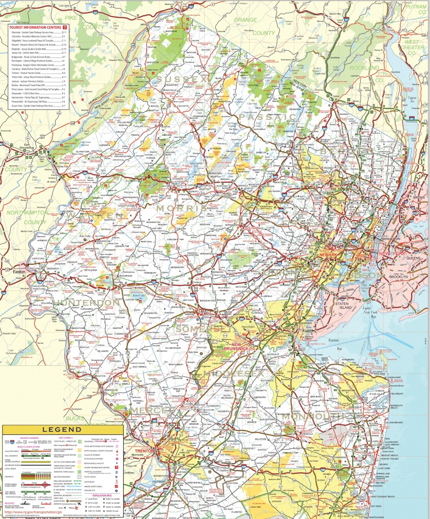 Map Of Northern New Jersey - Printable Map Of New Jersey