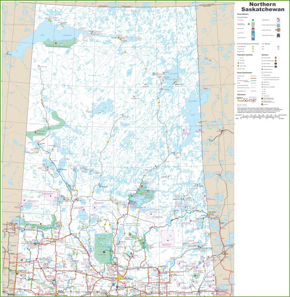 Map Of Northern Saskatchewan - Printable Map Of Saskatchewan