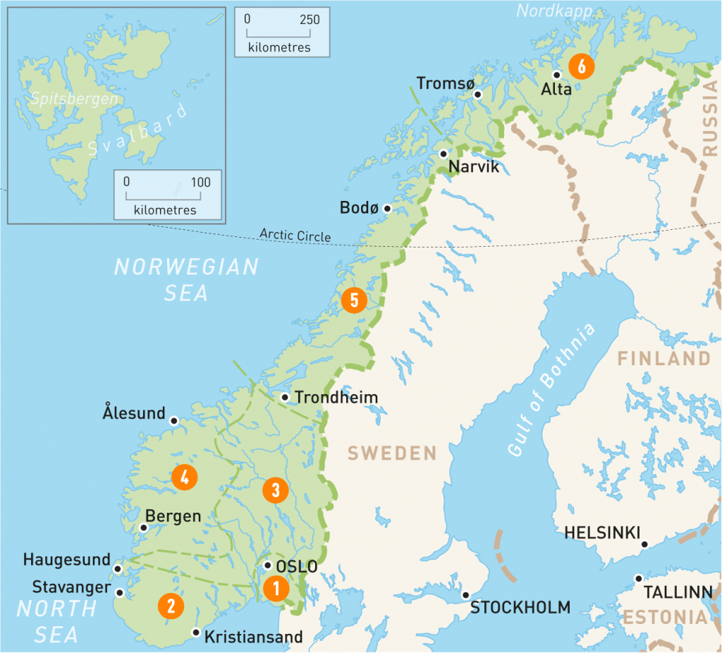 Map Of Norway | Norway Regions | Rough Guides | Rough Guides - Printable Map Of Norway