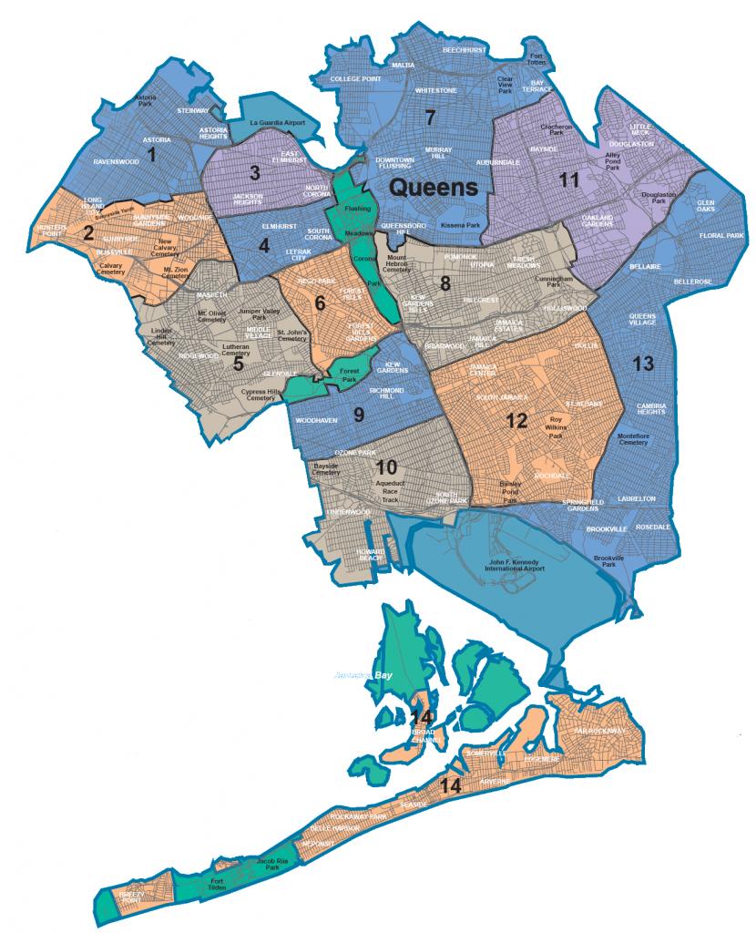 Map Of Nyc 5 Boroughs & Neighborhoods - Printable Map Of Brooklyn Ny Neighborhoods