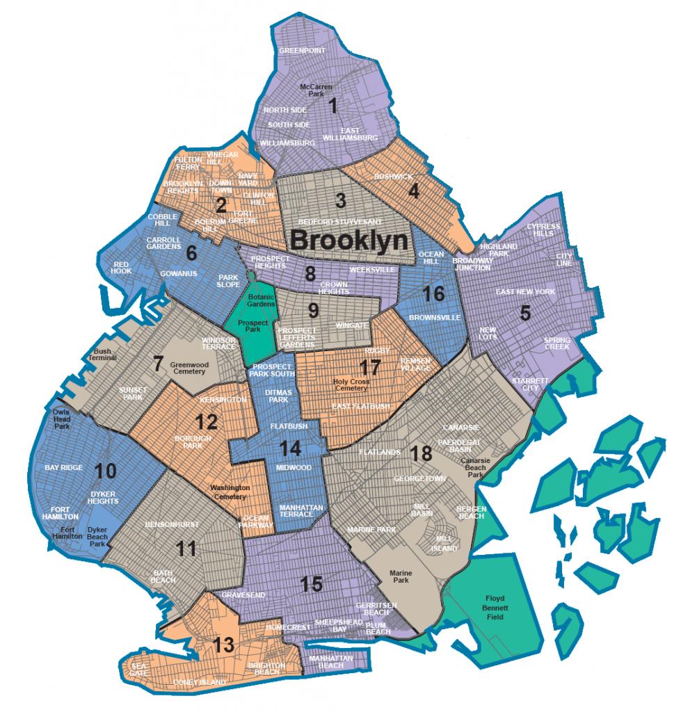 Map Of Nyc 5 Boroughs & Neighborhoods - Printable Map Of Brooklyn