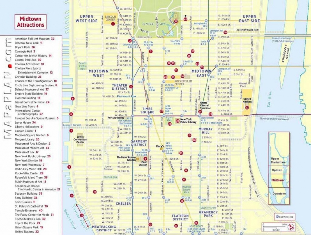Map Of Nyc Attractions Printable - Printable Map Of New York City - Printable Map Of New York City Tourist Attractions