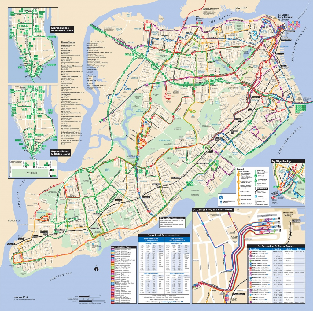 Map Of Nyc Bus: Stations & Lines - Printable Manhattan Bus Map