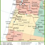 Map Of Oregon And Washington   California Oregon Washington Road Map