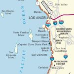 Map Of Pacific Coast Through Southern California. | Southern   Southern California Map Printable