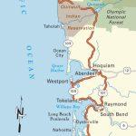 Map Of Pacific Coast Through Southern Washington Coast. | Bucket   Oregon California Coast Map