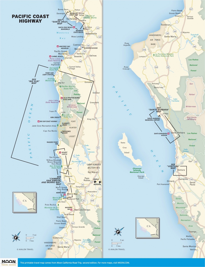Map Of Pacific Crest Trail In Southern California | Secretmuseum - Map Of Southern California Coast