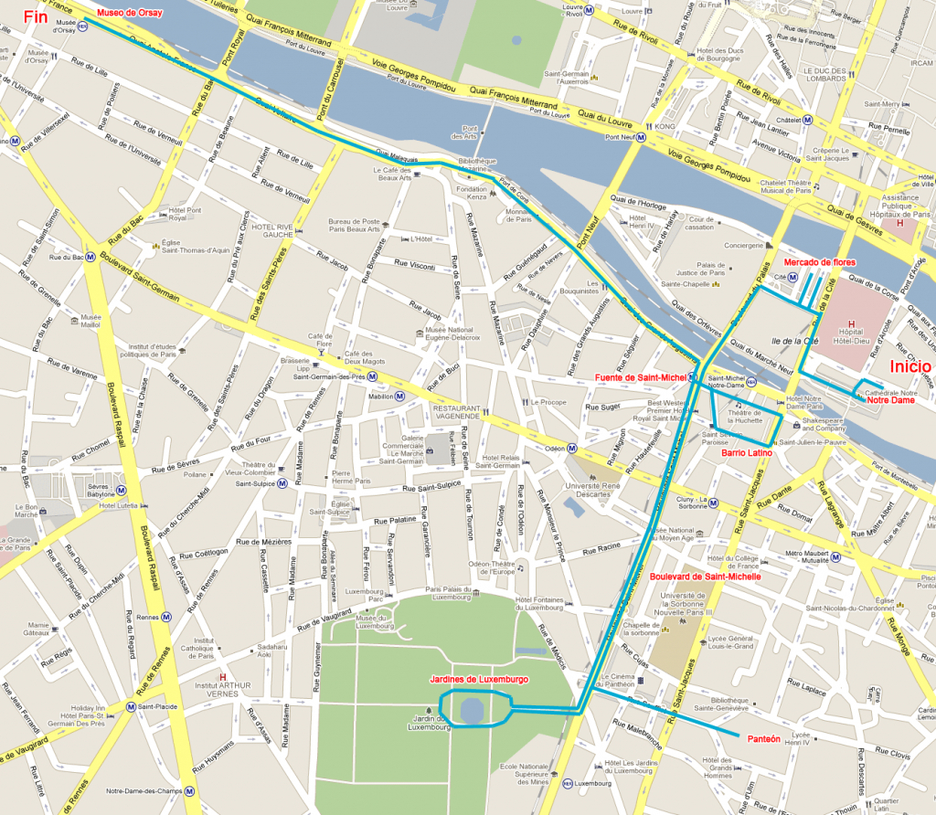 Map Of Paris - Paris Interactive Map - Free Printable Map Of Paris
