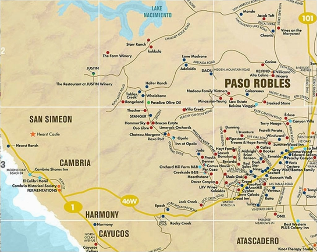 Map Of Paso Robles California Map Of Paso Robles California - Where Is Paso Robles California On The Map