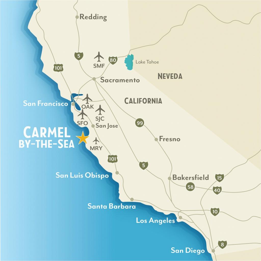 Map Of Pebble Beach California Google Maps Monterey California - Beach Map Of California
