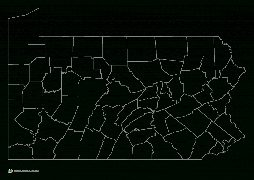 Map Of Pennsylvaniacounties And Travel Information | Download - Pa County Map Printable