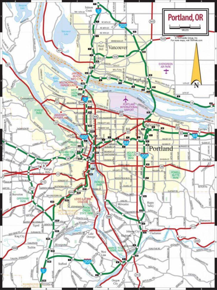 Printable Map Of Portland Oregon