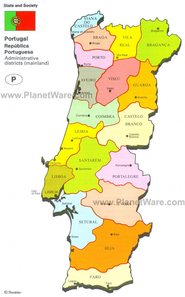 Map Of Portugal | Planetware - Printable Map Of Portugal