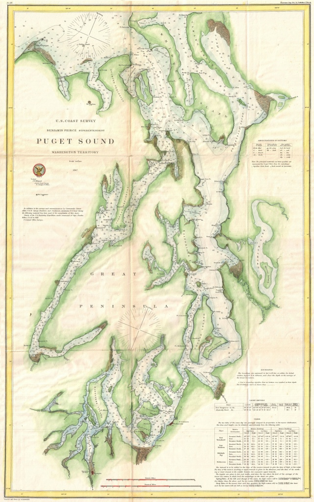 Map Of Puget Sound | Maps | Cartographie, Plans, Dessin Architecture - Vashon Island Map Printable
