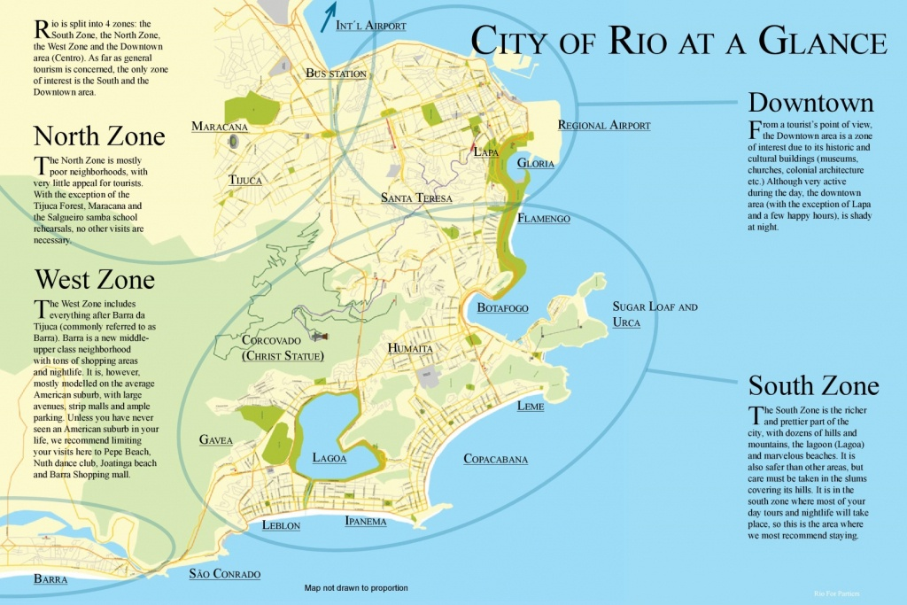 Map Of Rio De Janeiro Neighborhoods - Printable Map Of Rio De Janeiro