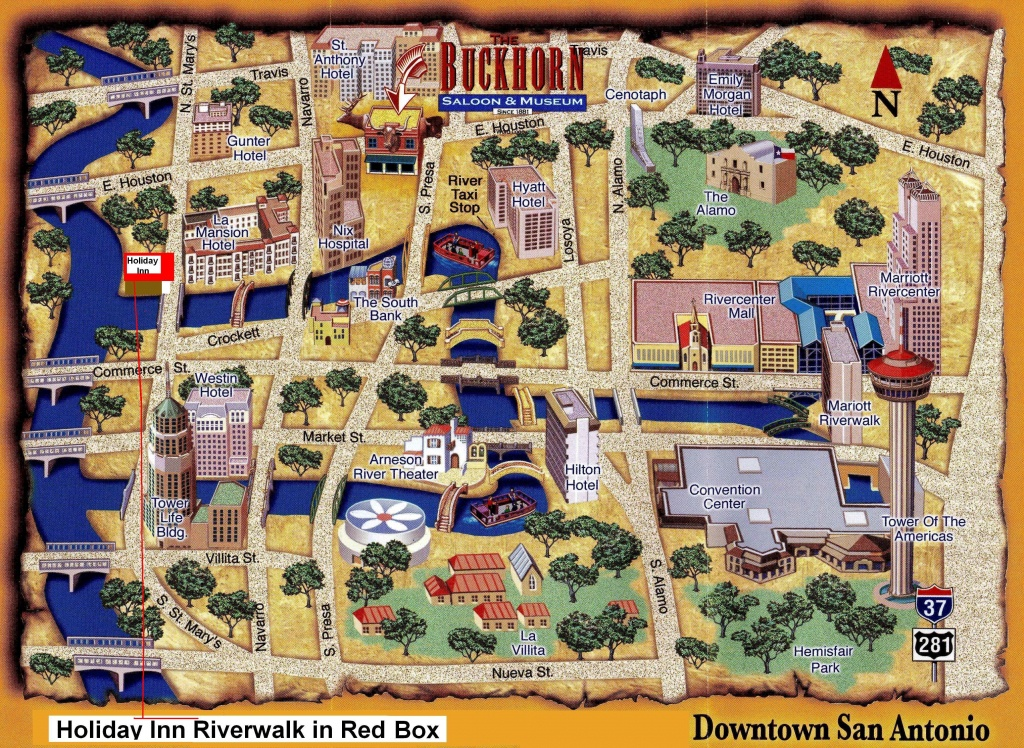 Map Of San Antonio Attractions | Map Of The Riverwalk Area Shows - Map Of Hotels Near Riverwalk In San Antonio Texas