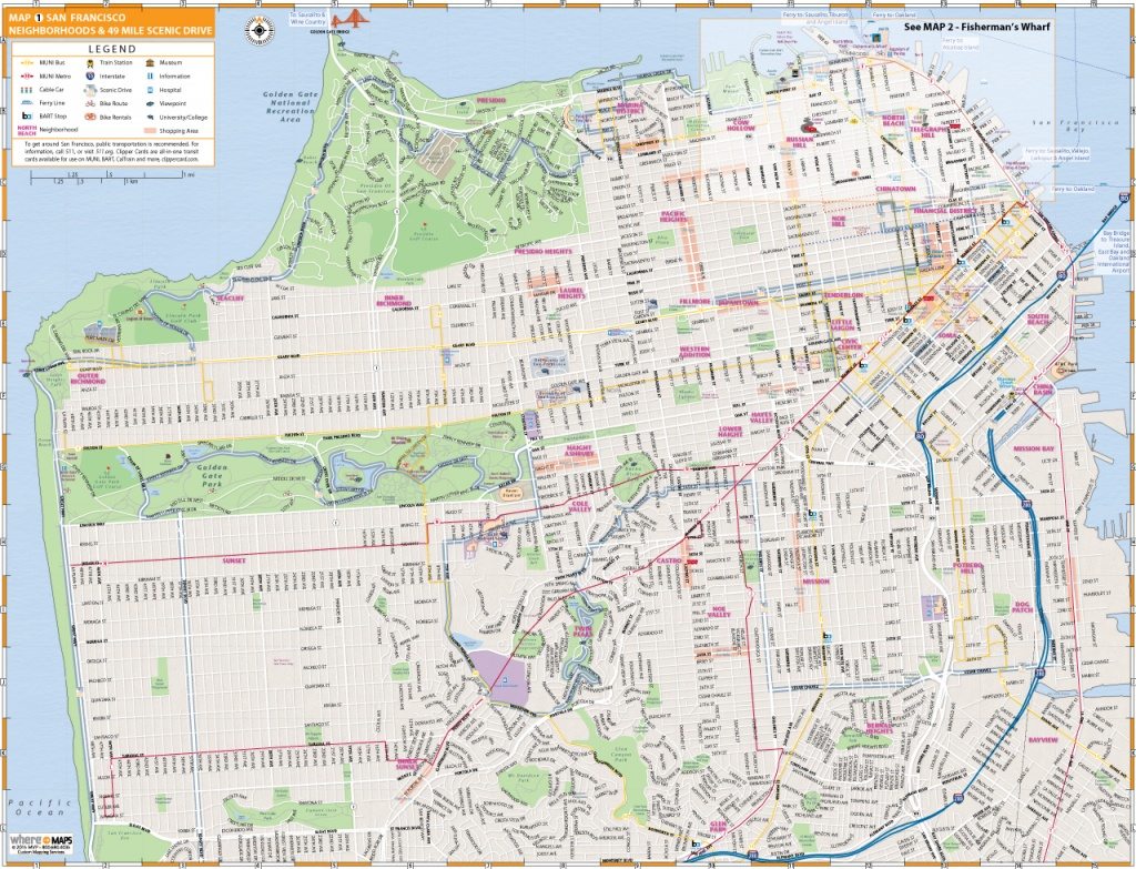 Map Of San Francisco: Interactive And Printable Maps | Wheretraveler - Printable Map Of San Francisco Streets