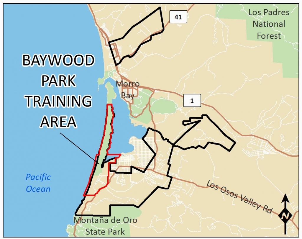 Map Of San Luis Obispo California Baywood Park Training Area - San Luis Obispo California Map
