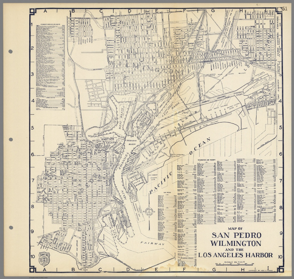Map Of San Pedro, Wilmington And The Los Angeles Harbor, California - San Pedro California Map