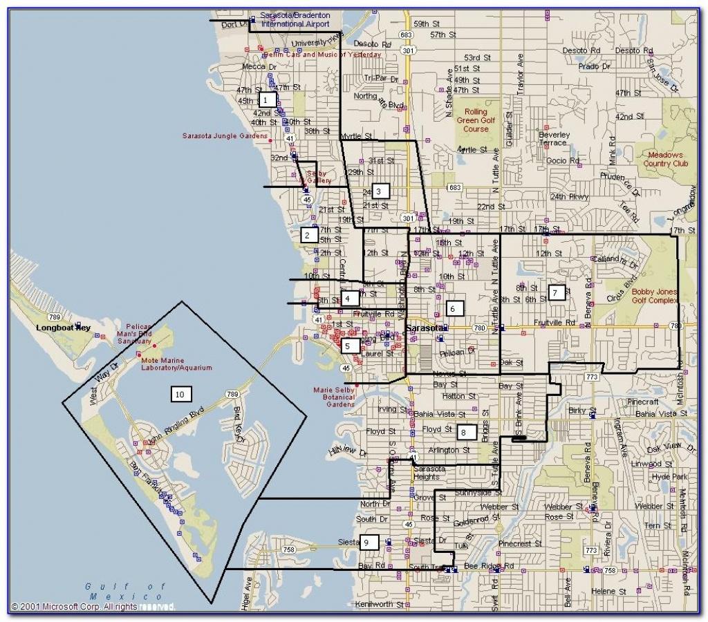 Map Of Sarasota Florida Beaches - Maps : Resume Examples #7Ppd15Nmne - Map Of Sarasota Florida And Surrounding Area