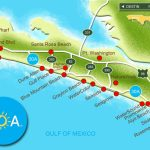 Map Of Scenic 30A And South Walton, Florida   30A Panhandle Coast   Blue Mountain Beach Florida Map