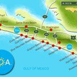 Map Of Scenic Highway 30A/south Walton, Fl Beaches | Florida: The   Blue Mountain Beach Florida Map