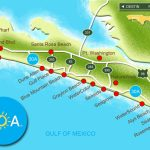 Map Of Scenic Highway 30A/south Walton, Fl Beaches | Florida: The   Where Is Seagrove Beach Florida On A Map