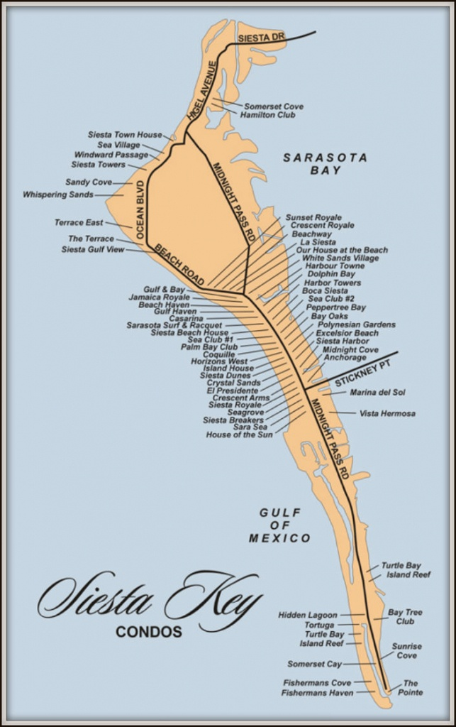 Map Of Siesta Key Florida Condos - Siesta Key Florida Map