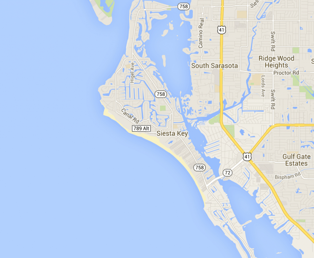 Map Of Siesta Key - Hotels And Attractions On A Siesta Key Map - Map Of Florida Gulf Coast Hotels
