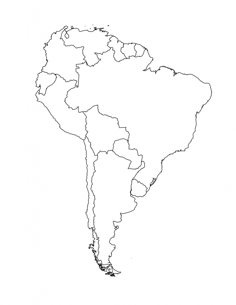Map Of South American Countries | Occ Shoebox | South America Map - Outline Map Of North America Printable