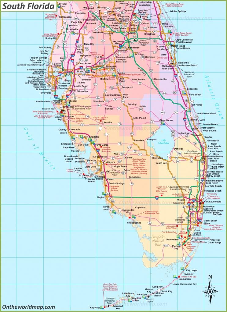 Map Of South Florida - Map Of South Florida Towns