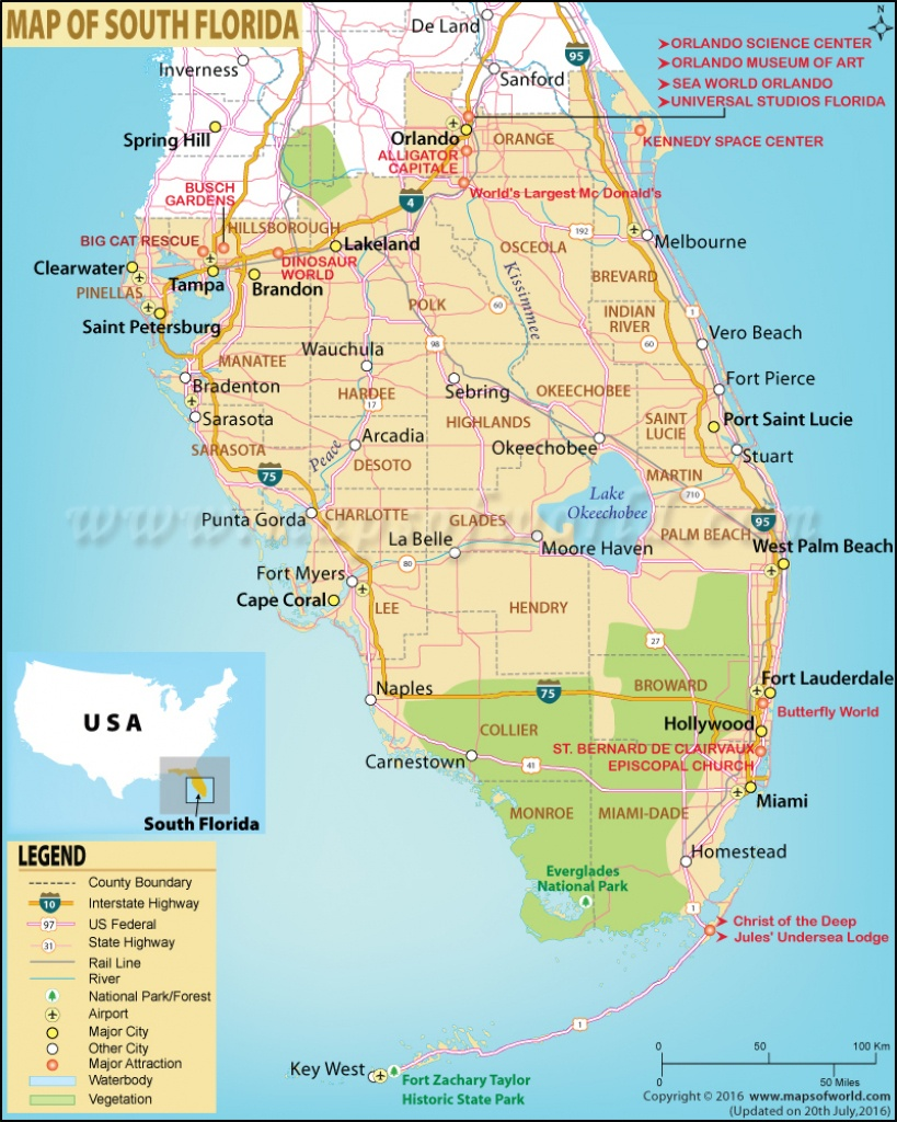 Map Of South Florida, South Florida Map - Highway Map Of South Florida