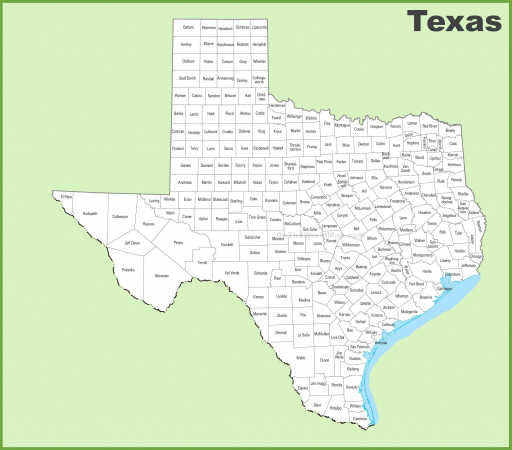 Map Of South Texas Counties And Travel Information | Download Free - South Texas Cities Map