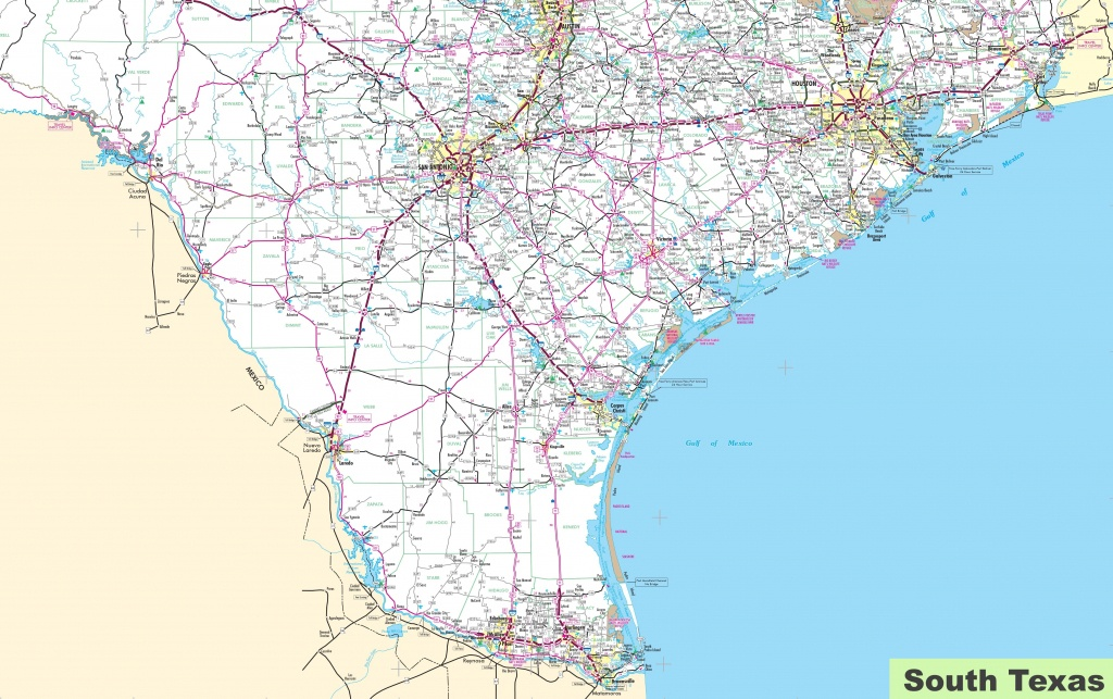 Map Of South Texas - South Texas Cities Map