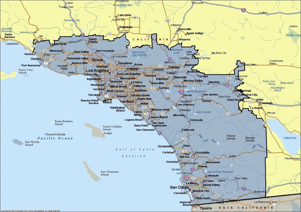 Map Of Southern California Cities   Andrewsteinhome Regarding Map Of - Map Of Southern California Beach Cities