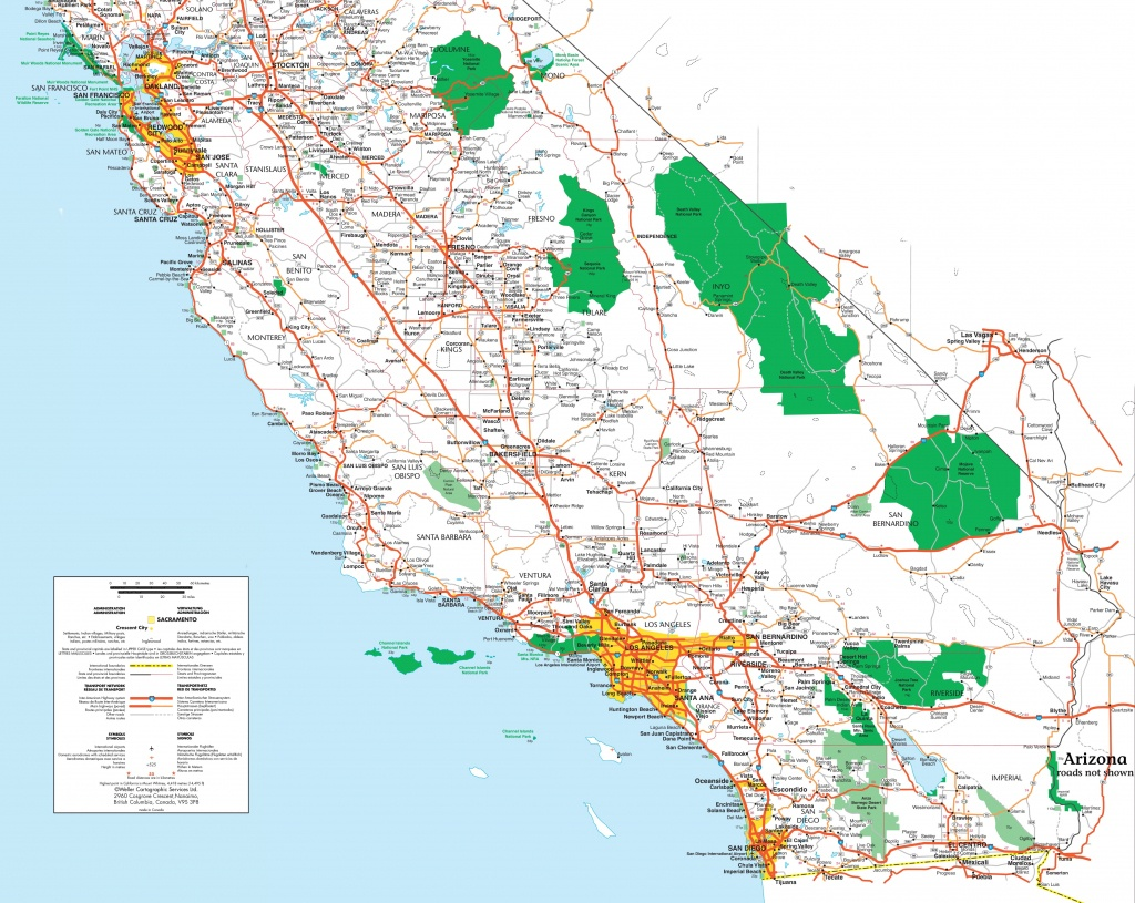Map Of Southern California - Printable Map Of Southern California