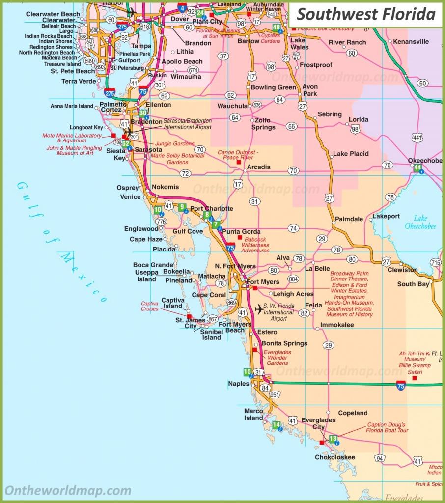 Map Of Southwest Florida - Map Of Sw Florida