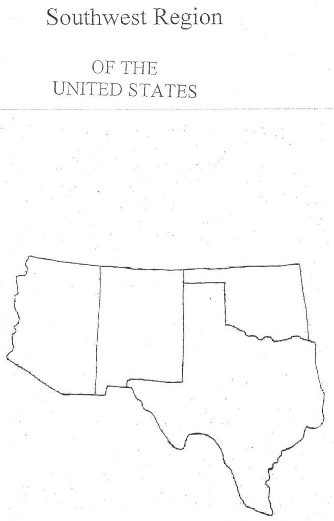 Map Of Southwestern States   Sitedesignco - Southwest Region Map Printable
