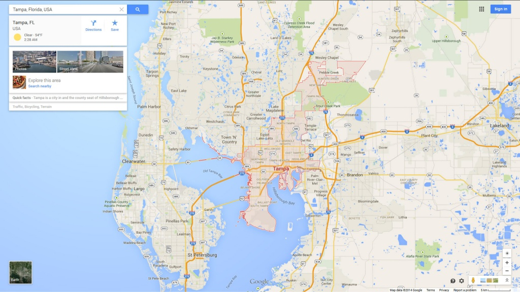 Map Of Tampa Florida And Surrounding Cities And Travel Information - Map Of Tampa Florida And Surrounding Area