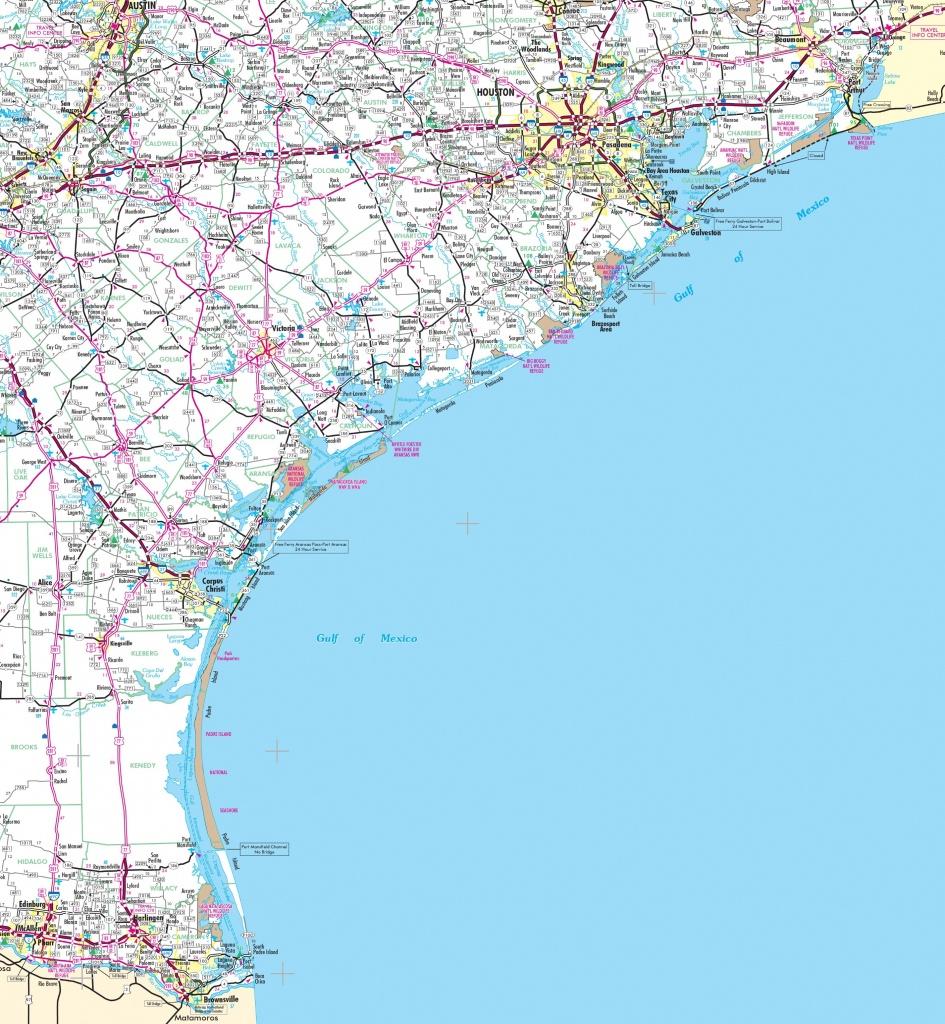 Map Of Texas Coast - Map Of Texas Coastline Cities