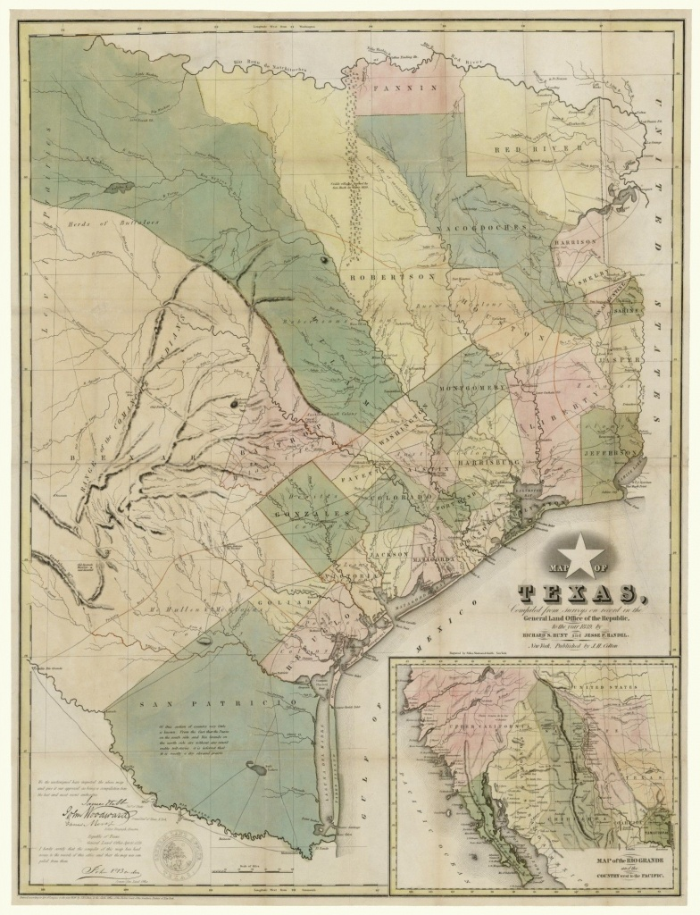 Map Of Texas, Compiled From Surveys On Record In The General Land - Texas General Land Office Maps