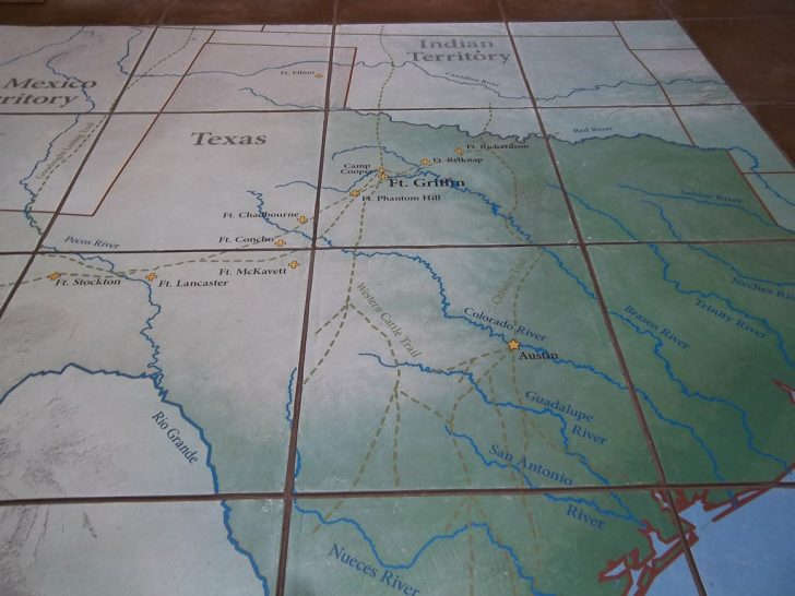 Texas Forts Trail Map