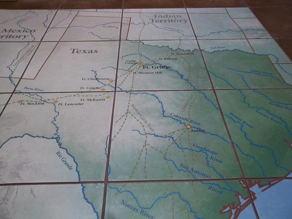 Map Of Texas Forts, Fort Griffin, Texas | Located Inside The… | Flickr - Texas Forts Trail Map