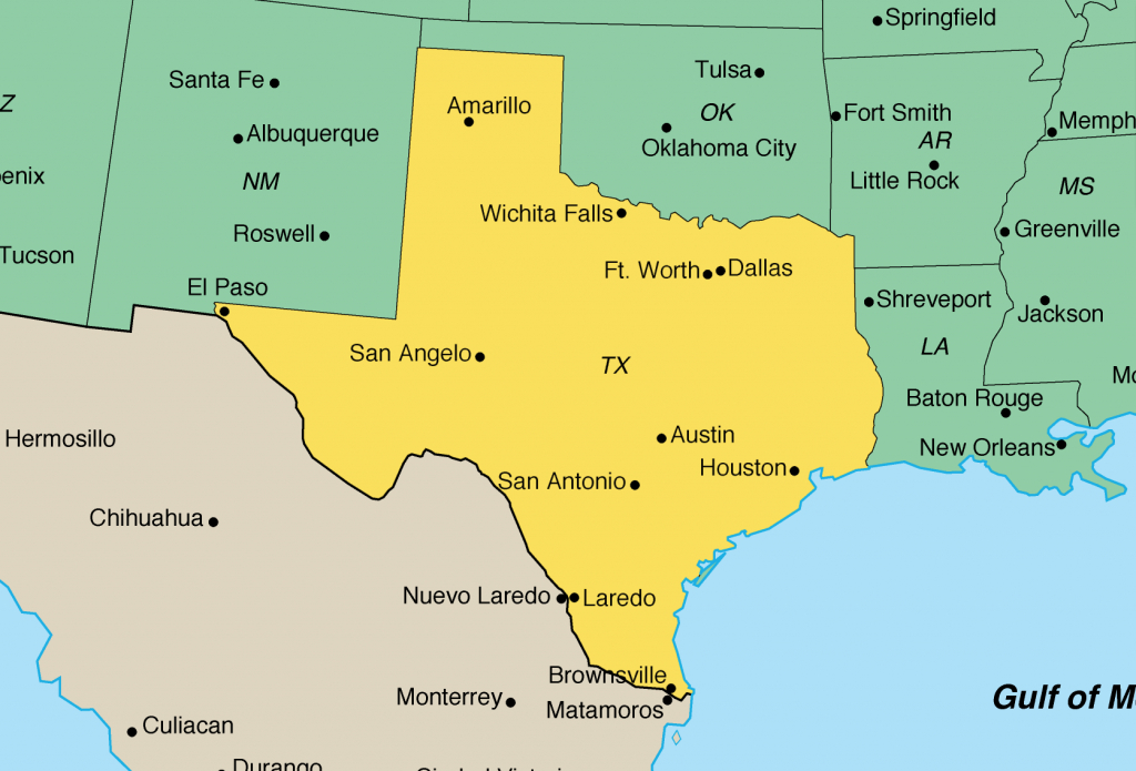 Map Of Texas | U.s. Embassy In Austria - Travel Texas Map