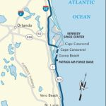 Map Of The Atlantic Coast Through Northern Florida. | Florida A1A   Map Of Florida East Coast
