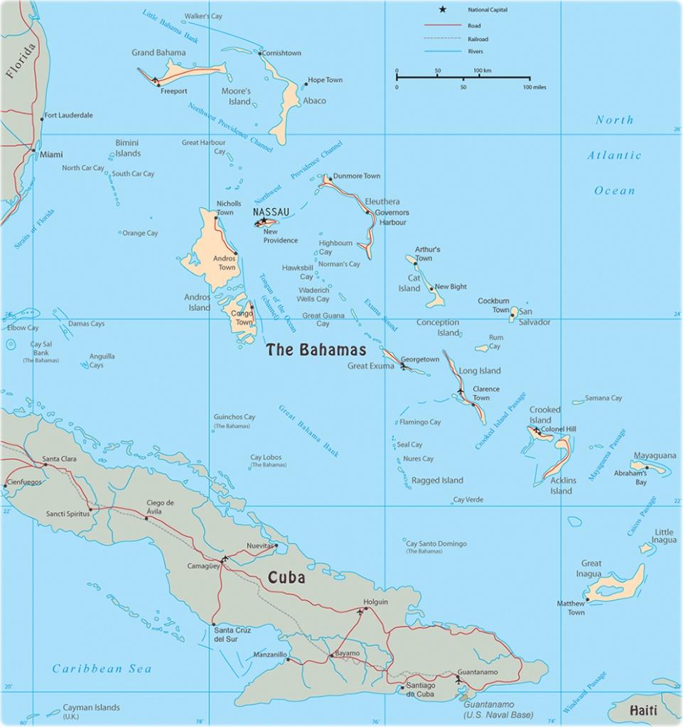 Map Of The Bahamas - Map Of Florida And Freeport Bahamas